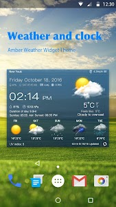 Weather & Clock Widget Free screenshot 0