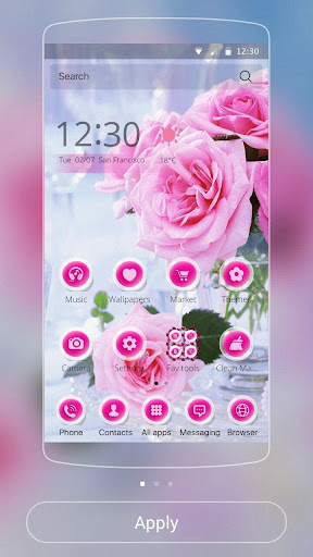 Pink Rose Love Theme Screenshot
