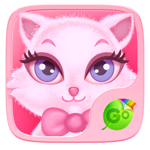 个人化のPink Kitty GO Keyboard Theme LOGO-記事Game