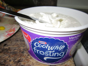 Photo: The NEW Cool Whip Frosting is light and fluffy and even though it comes right out of the freezer, it is easy to spread.