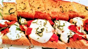 Garlic Bread Rustic Margherita Pizza