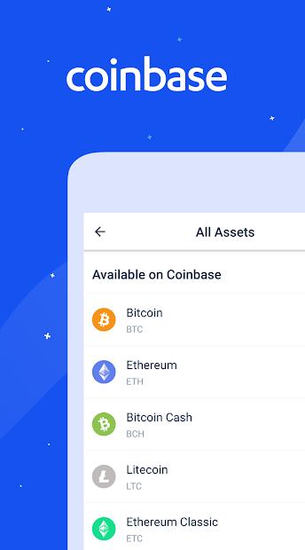 Coinbase – Buy & Sell Bitcoin. Crypto Wallet. Android App Screenshot