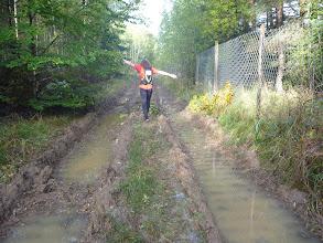 Photo: Hier haben wir uns verhauen, der Weg wäre rechts vom Zaun gewesen...