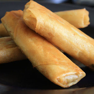 Shanghai-Style Spring Rolls (with Braised Cabbage and Pork).