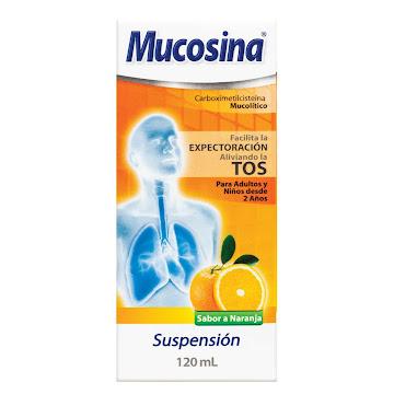 MUCOSINA Naranja Sus.   Oral Frasco x120Ml. PFIZER Carboximetilcisteína