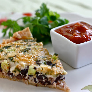 FoodFash Black Bean Quiche with Mango Peach Salsa Recipe