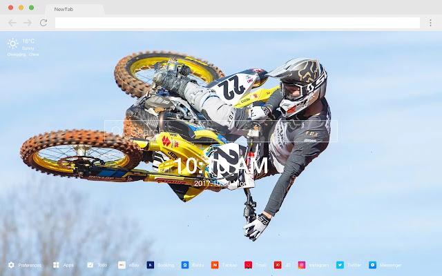 Motocross Popular Moto HD  New Tabs Theme