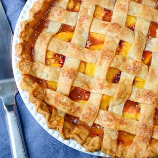 Fresh Peach Pie With Lattice Crust