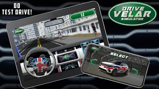 Drive Velar Simulator - náhled