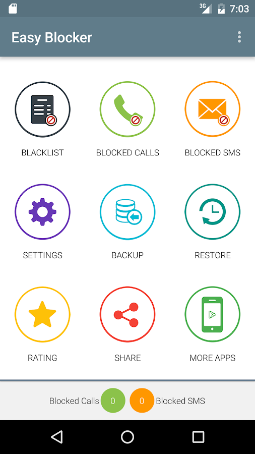 Call and SMS Easy Blocker- screenshot