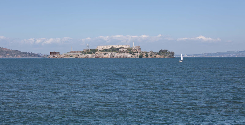 Alcatraz Island as seen from Fort Mason, San Francisco.