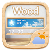 Wood GO Weather Widget Theme