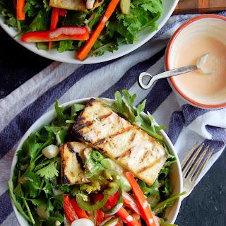 Grilled Tofu Banh Mi Salad with Sriracha Greek Yogurt Dressing