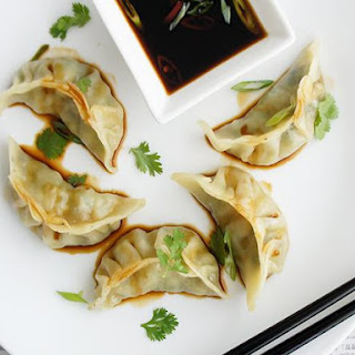 Prawn and Snow Pea Steamed Dumplings.