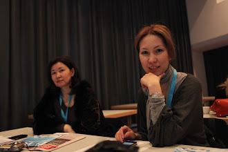Photo: Makhabbat Jailganova and Dilyara Kassymbekova from Kazakhstan