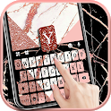 Rose Gold Marble Swirl Keyboard Theme icon
