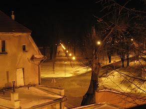 Photo: Za oknami, tegoż samego pokoju w którym nocowaliśmy przed rokiem, rozpościerał się na widok na przyschroniskowy park.