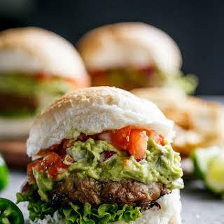 Carne Asada Guacamole Burgers.