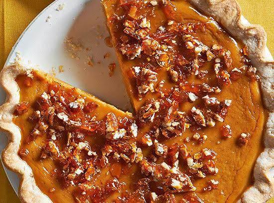 Maple Pumpkin Pie With Salted Pecan Brittle Recipe