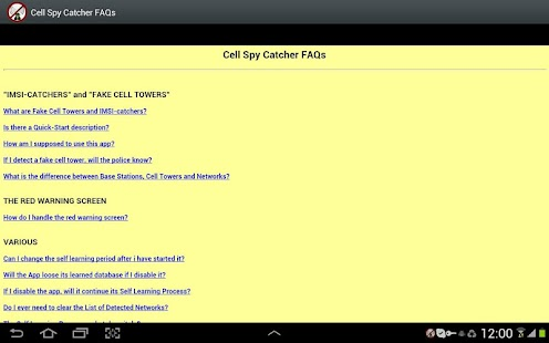 Cell Spy Catcher (Anti Spy) Screenshot