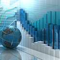 Stock market free course $ Stock charts & Finance icon