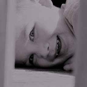 I see you by Marsha Grimm - Babies & Children Children Candids ( precious, funny, boy, playtime,  )