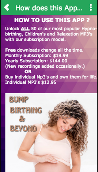 Bump Hypnobirthing and Beyond- screenshot