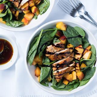 Grilled Chicken & Peach Summer Salad.