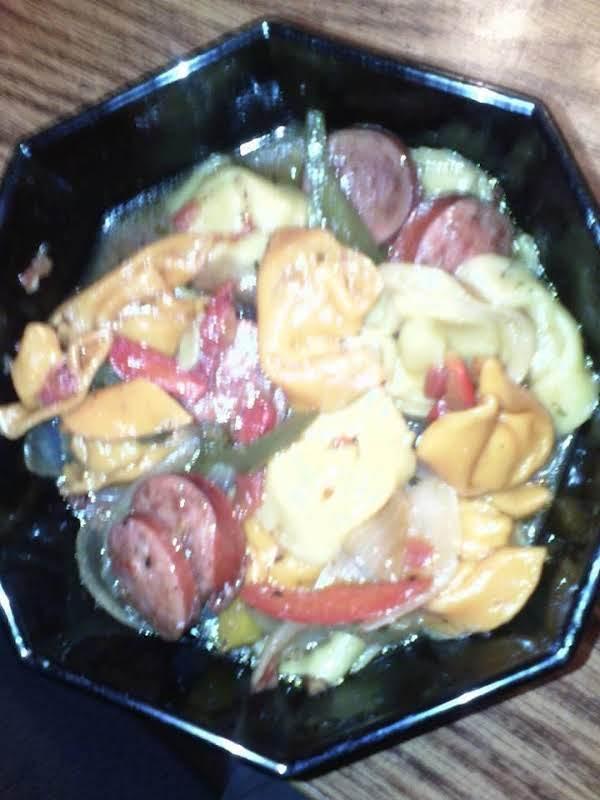 Kielbasa, Tortellini & Peppers Recipe