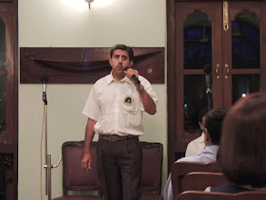 Photo: Manoj captivating the audience..