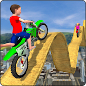 Kids Motorbike Stunts Master Roof Top Arena 2018