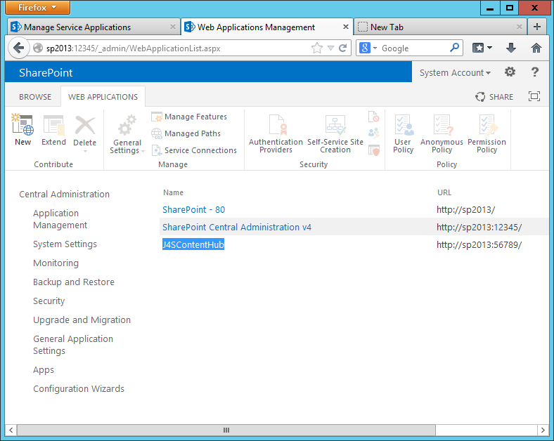 OIT Knowledge Base - Creating a Content Type Hub in SharePoint 2013