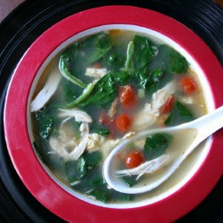 Chinese Chicken And Rice Soup (Food Network).