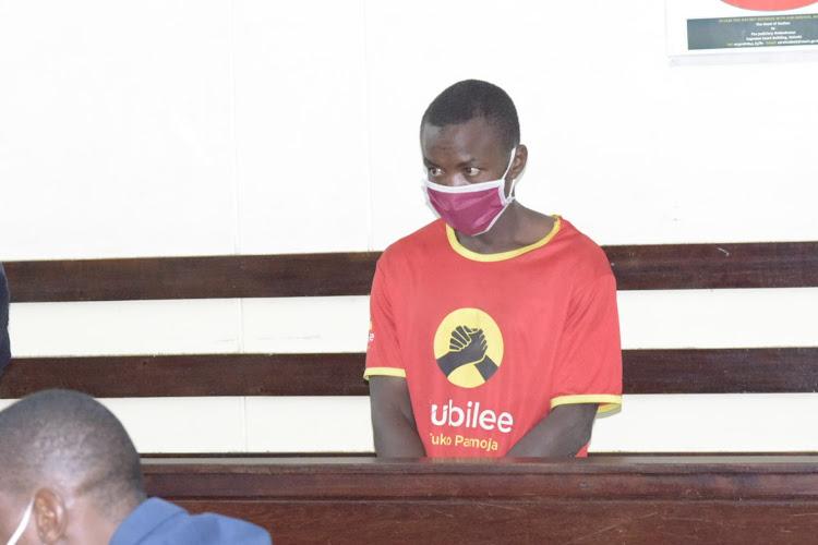 John Wahu at a Makadara law court