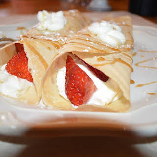 Strawberry Cream Cheese Crepes.