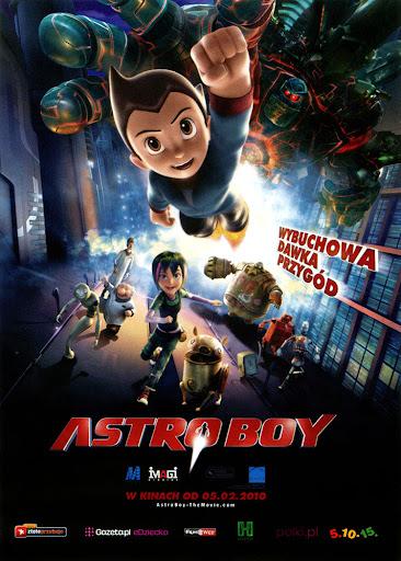 Przód ulotki filmu 'Astro Boy'