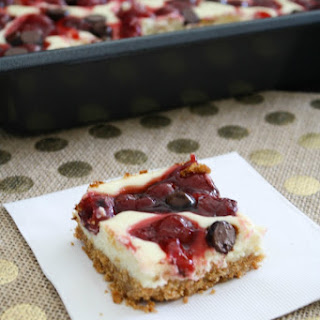 Chocolate Cherry Cheesecake Bars