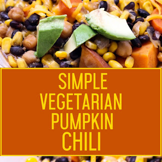 Simple Vegetarian Pumpkin Chili.