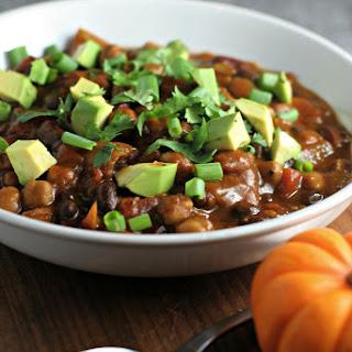 Crock Pot 3 Bean Pumpkin Chili