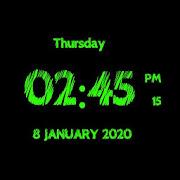 Super Digital Clock Live Wallpaper