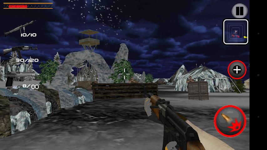 android Army Commando Shooter Sniper X Screenshot 0