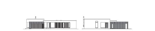 Parterowy 1 - Elewacja przednia i boczna