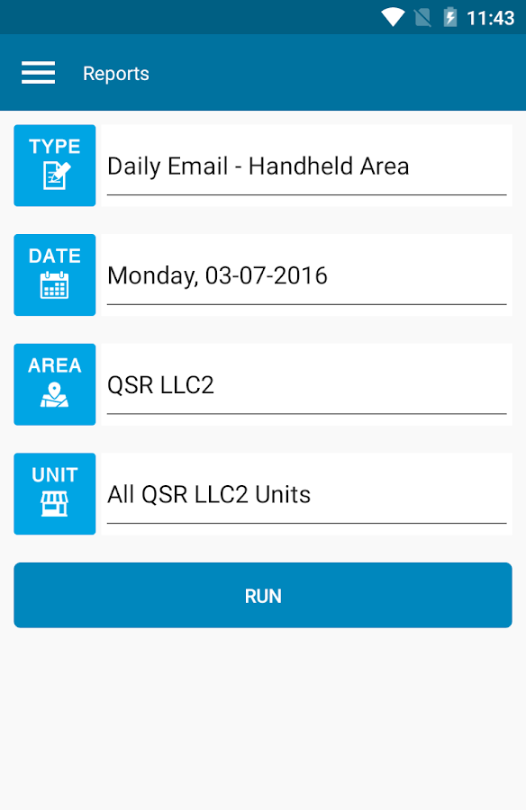 QSROnline Reporting- screenshot