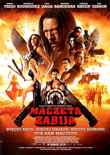 Przód ulotki filmu 'Maczeta Zabija'