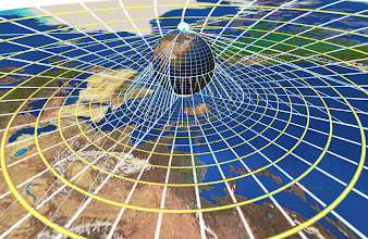 Photo: Stereographic projection is a key step in making 6-point perspective pictures