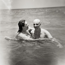 Photo: M and C in water