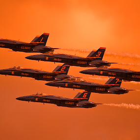 Angels in the sky by Greg Harcharik - Transportation Airplanes ( . )