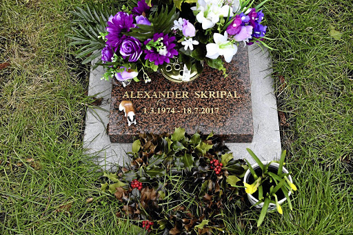 The grave of Alexander Skripal, son of Sergei Skripal, in Salisbury. Police are said to be taking a fresh look at the deaths of both him and Sergei Skripal's wife. Picture: REUTERS