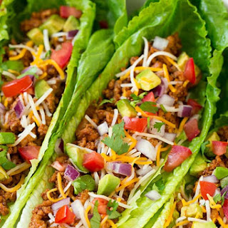 Turkey Taco Lettuce Wraps.