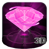 Pink Diamond Love 3D Theme
